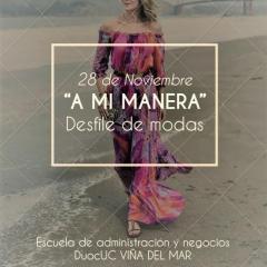"Desfile de modas "" A MI MANERA """